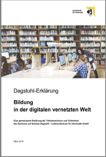 Buch: Dagstuhl Erklärung - Bildung in der digitalen vernetzten Welt