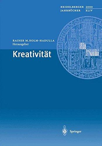 """Buchcover """"Kreativität"""" Rainer M.Holm-Hadulla"""