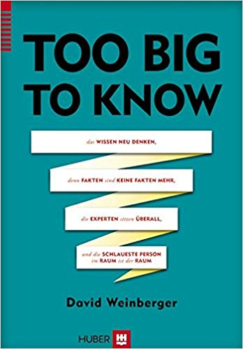 Buchcover: Too big to know - David Weinberger