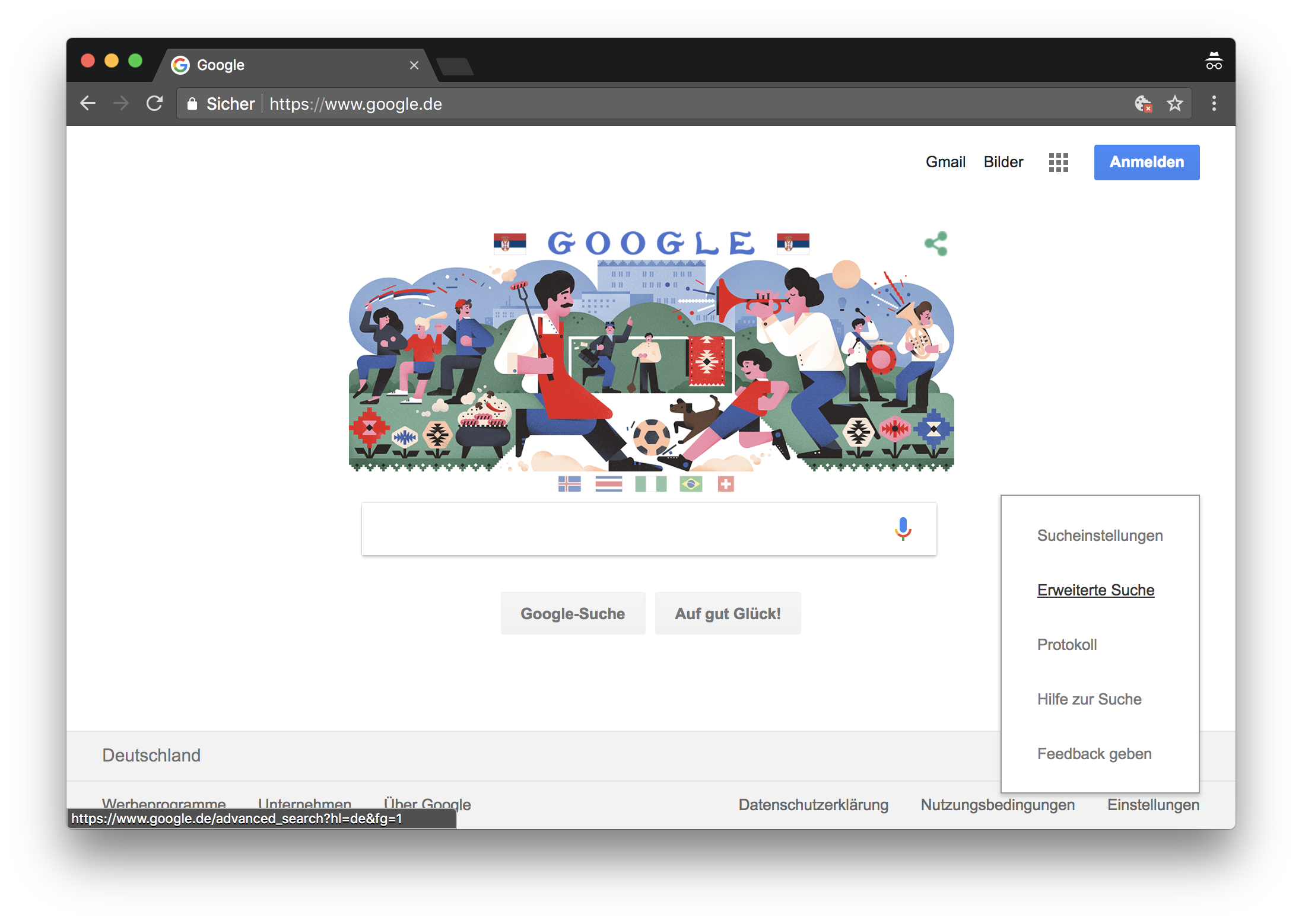 Google erweiterte Suche