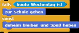 if/else Schleife