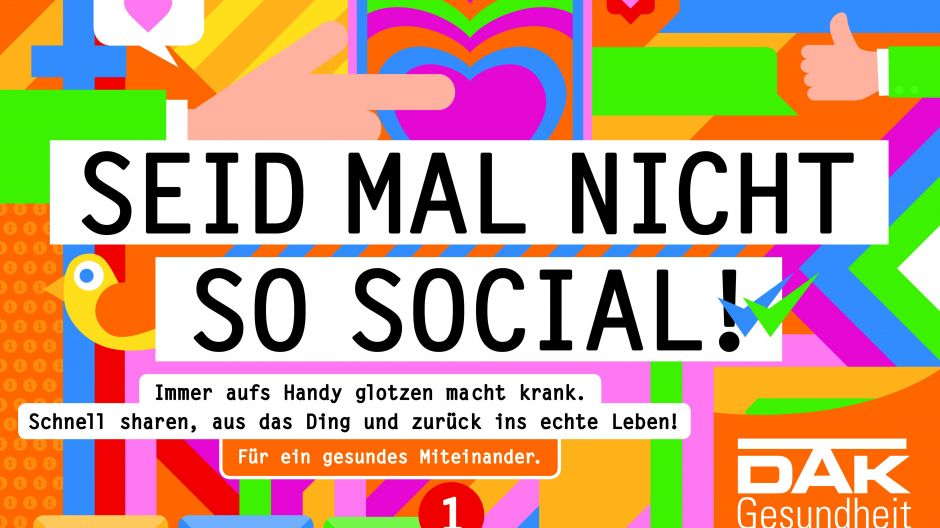 "Werbekampagne ""Seid mal nicht so social!"""